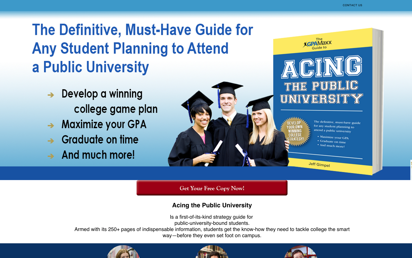 Acing the Public university Sales Site front page
